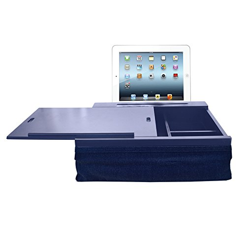 Find Bargain iCozy Portable Cushion Lap Desk With Storage - Navy Denim