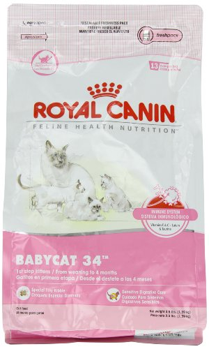 Royal Canin Dry Cat Food, Babycat 34 Formula, 3.5-Pound Bag