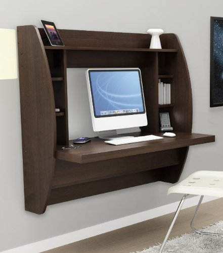 Genial Prepac Floating Wall Desk Espresso