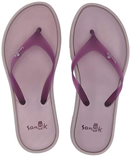 (Sanuk Women's Sidewalker Flip-Flop Prune/sea Fog Jelly 09 M US)