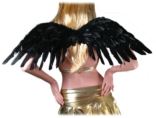 SACAS Large Black Feather Angel Wings for women, men, adults