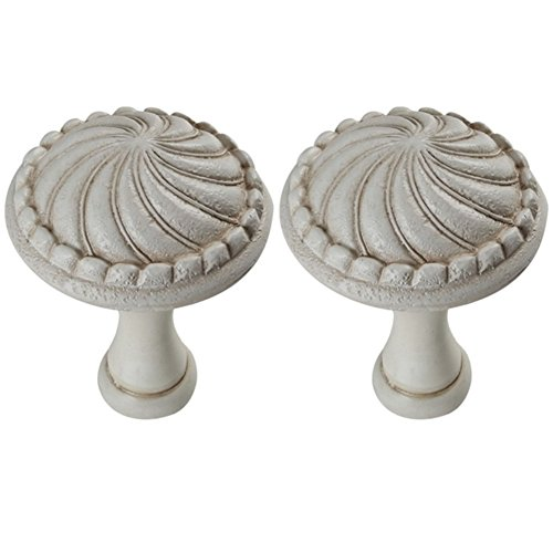 YYC 2Pcs Retro Shell Resin Medallion Drapery Holdback Curtian Wall Hook Curtain Rod (White) - Medallion Scarf Holders