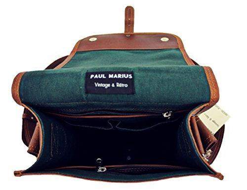 Il Pelle Retro Borsa Tracolla amp; Vintage s Vintage Messaggero Paul Marius A La Spalla AfgrxA