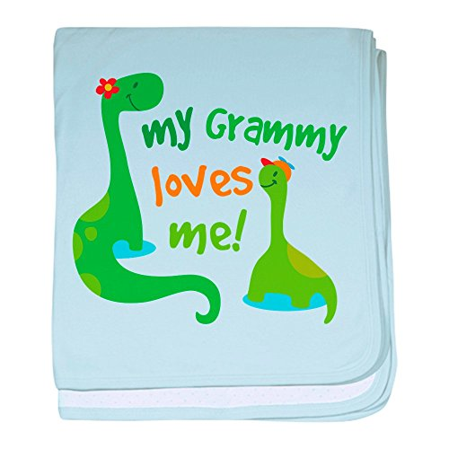 CafePress - My Grammy Loves Me Dinosaur baby blanket - Baby Blanket, Super Soft Newborn Swaddle (Baby From The Dinosaurs)