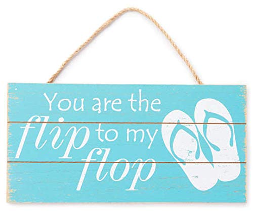 Red, White You are The Flip to My Flop Wood Panel Wall Décor 11.75