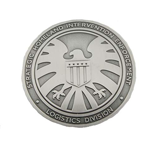 The Avengers Agents of Shield S.H.I.E.L.D. Badge Full Size Brass -Replica Bronze