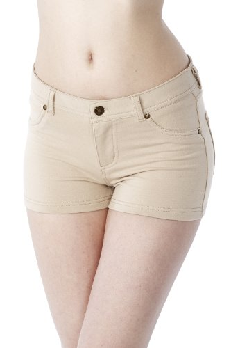 Emma's Mode Junior Comfortable French Terry Shorts SG-FTS115-Khaki-L