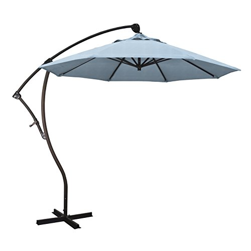 California Umbrella 9' Round Aluminum Cantilever Umbrella...