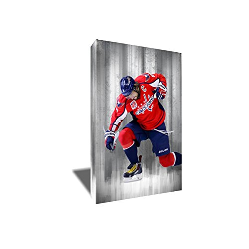Alex ALEXANDER OVECHKIN Painting Poster Artwork on CANVAS ART Print (8x12 inches)