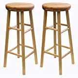 "Winsome Wood 88830 Oakley Stool, 30"", Natural"