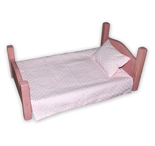 - Amish-Made Rebekah's Collection Wooden Doll Bed for 18