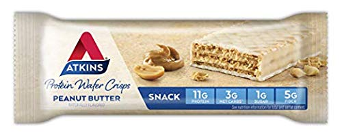 Atkins Protein Wafer Crisps, Peanut Butter, 5 Little Bars (Pack of 2)