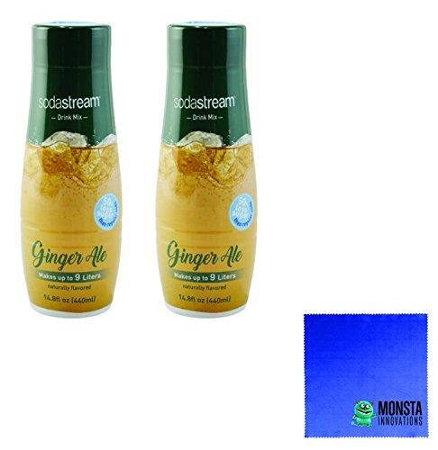 SodaStream 14.8 fl Ginger Ale Syrup- Twin Pack Value Bundle