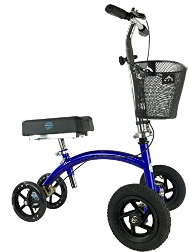 KneeRover HYBRID Knee Scooter with All Terrain Front Axle - Travel Kit All Outdoor Terrain