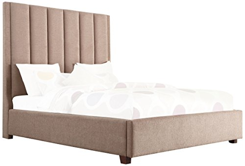 Homelegance Neunan Fabric Upholstered Platform Bed, Eastern King, (Home Elegance Platform Eastern King)