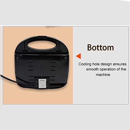 Mini Gaufrier, Gaufrier Croque Monsieur, Lave-Vaisselle 750W Peut Être Utilisé pour Nettoyer Les Sandwichs Anti-Adhésifs