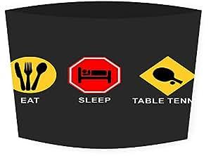 Rikki Caballero diseño de comer dormir tenis de mesa Latte bebida Insulator, negro