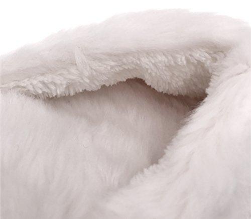 Moggei Kvinnor Fuzzy Hus Tofflor Jul Bomull Vintern Varma Inomhus Hem Tofflor Blå