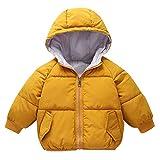 Little Kids Winter Warm Coat,Jchen(TM) Clearance! Kids Baby Little Girl Boys Winter Hooded Coat Cloak Jacket Thick Warm Outerwear for 1-5 Years Old (Age: 18-24 Months, Yellow)