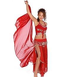 Belly Dance Costume Set   Skirt-Veil,Tank-Top & Hip Scarf   Tremendous