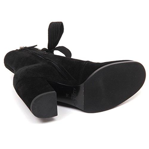 Black Woman Donna Scarpe Suede Shoe Nero E7684 Stivaletto Boot Gozzi Alberto wTCCgq