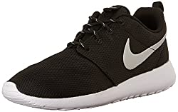 Nike Womens Roshe One Running Shoe Blackmetallic Platinumwhite (9)