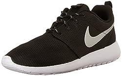 Nike Womens Roshe One Running Shoe Blackmetallic Platinumwhite (7.5)