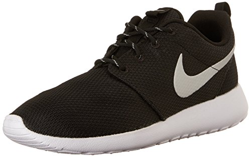 (Nike Womens Roshe One Running Shoe Black/Metallic Platinum/White (9))