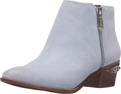 Circus by Sam Edelman Womens Holt Opal Blue Velour Suede/Metallic Crom Boot 8 M