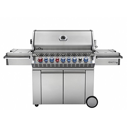 Napoleon Prestige Pro 665 Freestanding Natural Gas Grill With Infrared Rear Burner And Infrared Side Burner Napoleon
