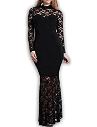 832 - Plus Size Mermaid Lace Maxi Long Cocktail Dress Gown
