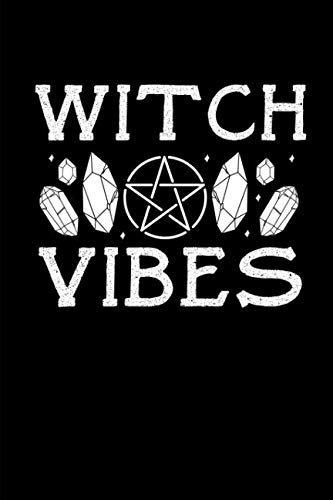 Witch Vibes: This is a blank, lined journal that makes a perfect Halloween gift for men or women. It's 6x9 with 120 pages, a convenient size to write things in.