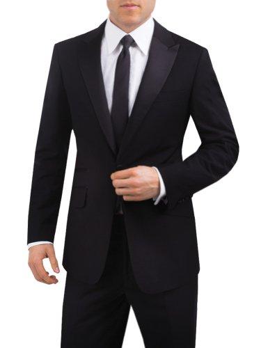 Alexander Dobell Men's Peak Lapel 1 Button Slim Fit Tuxedo Jacket