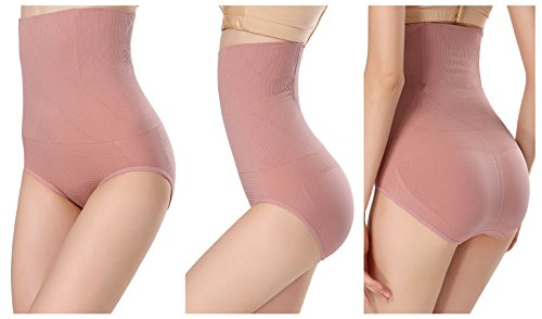 Srizgo Miederhose Damen 2er Pack figurenformend Miederslip mit Bauch Weg Effekt Miederpants Mieder String Butt Lifter Shaper Shapewear(Schwarz, Rosa)