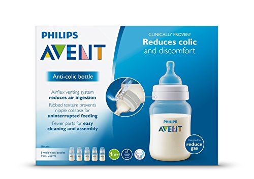 Philips Avent Anti-colic Baby Bottles Clear, 9oz 5 Piece