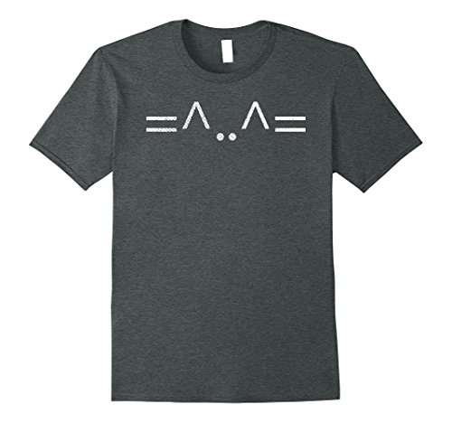 Mens Cute Cat ASCII Art: Funny T-Shirt For Nerdy Cat Ladies XL Dark (Ascii Art Halloween)