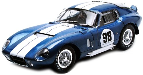 Shelby Daytona Coupe (1965 Shelby Cobra Daytona Coupe #98 Race Version 1:18 Scale (Blue/White Stripes))