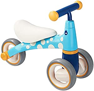 Children's Tricycle,Balance Bike Without Pedals with 3 Wheels Suitable from 2-4 Years Boys Girls Toys,Baby Three-Wheeled Scooter Walker,Birthday Present,Scooter,Blue,5018.3Cm