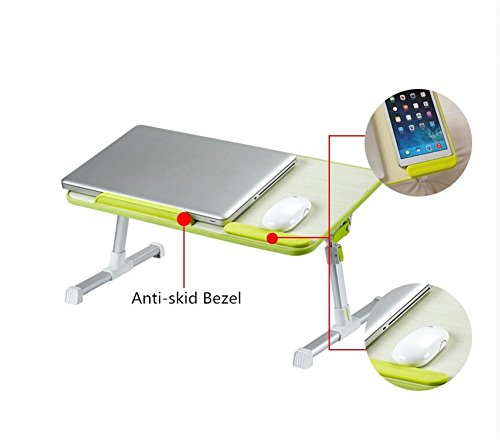 Muzyo Computer Desk Desk Lazy Person Notebook Computer Bed Up Desk Foldable College Dormitory Writing Small Table, 4 by Muzyo (Image #2)