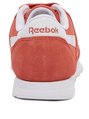 Classic Femme white Rouge Basses clay Sneakers Neutrals Tint Nylon Reebok d4xzTqFd