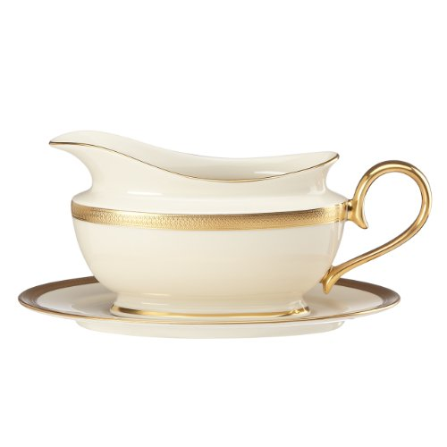 Lenox Lowell Sauce Boat and Stand, - Gold Boat Sauce