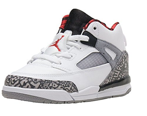 Nike JORDAN SPIZIKE BT Boys fashion-sneakers 317701-122_4C - WHITE/VARSITY RED-CEMENT GREY-BLACK (Varsity Red Cement)