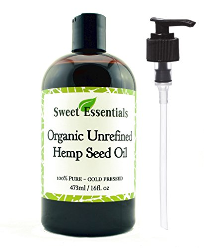Organic-Extra-Unrefined-Hemp-Seed-Oil-Also-Edible-16oz-Imported-From-Canada-100-Pure-Col-Pressed-Offers-Relief-From-Dry-Cracked-Skin-Eczema-Baby-Eczema-Psoriasis-Dermatitis-Rosacea