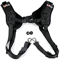 Double Dual Camera Shoulder Strap Harness with Quick Release for DSLR and SLR Cameras