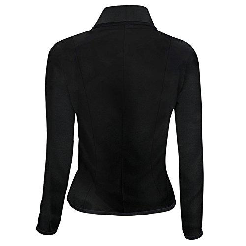 Otoño de de Abrigo Mujeres de Chaqueta Manga Oficina Blazer SHOBDW Invierno Slim la Traje Larga Señoras Camisetas Negro Outwear Negocios Formal 0nAIw6gqW