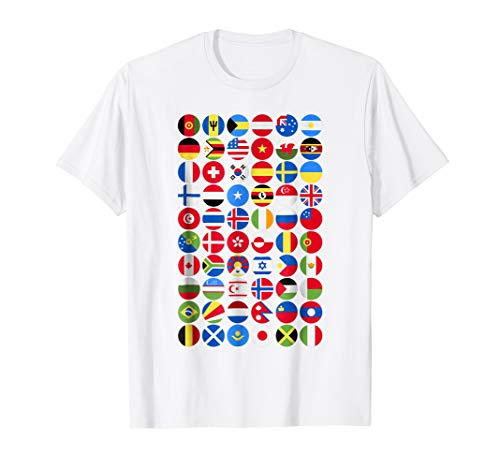 - International World Flags T-shirt, perfect for travelling