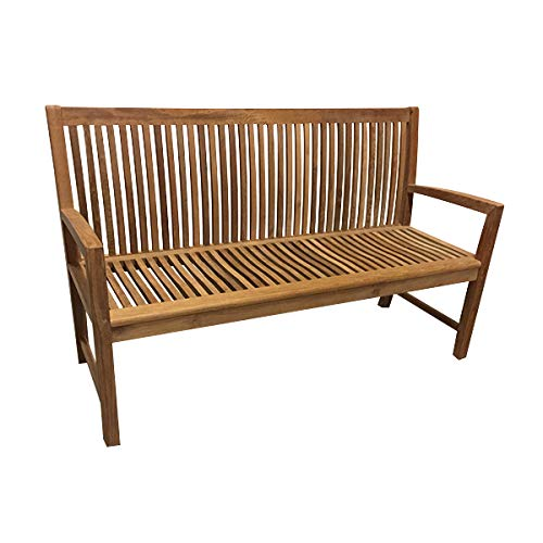 Peachy Amazon Com Atlanta Teak Furniture Teak Bench 60 Grade Unemploymentrelief Wooden Chair Designs For Living Room Unemploymentrelieforg