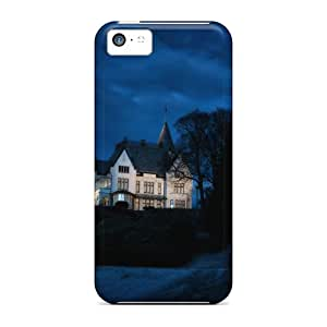 New Wonderful Mysterious Mansion Hdr Tpu Skin Cases Compatible With Iphone 5c Black Friday