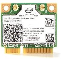 Intel Network 7260.NGWG.R WiFi Wireless-AC 7260 M2 H/T Dual Band 2x2 AC+ Bluetooth Brown Box