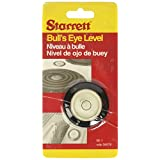 "Starrett BE-1 Acrylic Circular Bullseye Level with Flange, 1.180"" Diameter, Black"